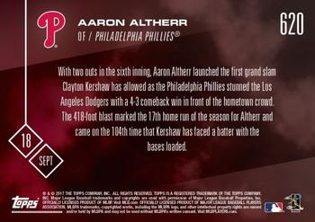 2017 Topps Now #620 Aaron Altherr Back