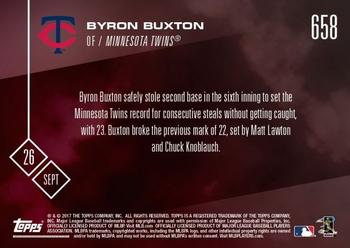 2017 Topps Now #658 Byron Buxton Back
