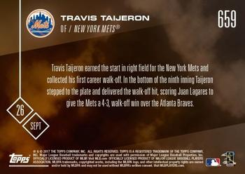 2017 Topps Now #659 Travis Taijeron Back