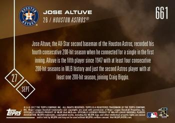 2017 Topps Now #661 Jose Altuve Back