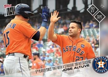 2017 Topps Now #661 Jose Altuve Front