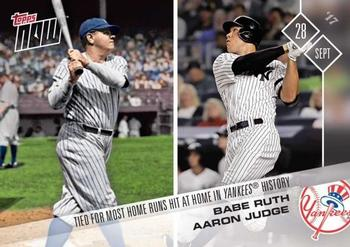 2017 Topps Now #669 Babe Ruth / Aaron Judge Front
