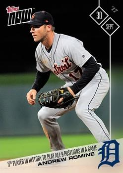 2017 Topps Now #677 Andrew Romine Front