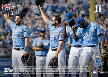 2017 Topps Now #681 Eric Hosmer / Mike Moustakas / Lorenzo Cain / Alcides Escobar Back