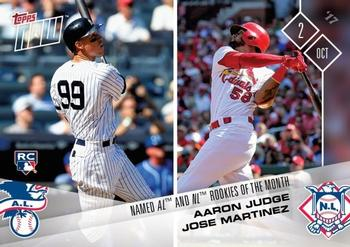 2017 Topps Now #682 Aaron Judge / Jose Martinez Front