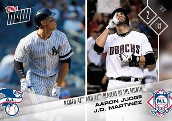 2017 Topps Now #683 Aaron Judge / J.D. Martinez Front