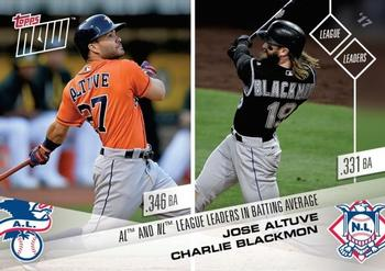 2017 Topps Now #684 Jose Altuve / Charlie Blackmon Front