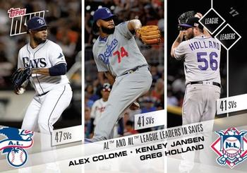 2017 Topps Now #689 Alex Colome / Kenley Jansen / Greg Holland Front