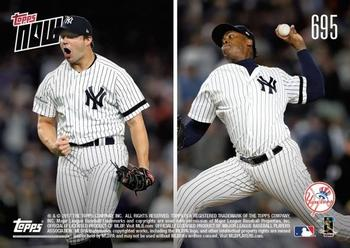 2017 Topps Now #695 Chad Green / David Robertson / Tommy Kahnle / Aroldis Chapman Back