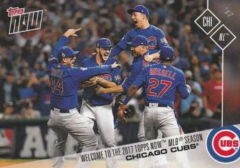 2017 Topps Now #NNO Chicago Cubs Front