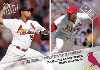2017 Topps Now #4 Carlos Martinez / Bob Gibson Front
