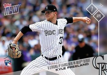2017 Topps Now #18 Kyle Freeland Front
