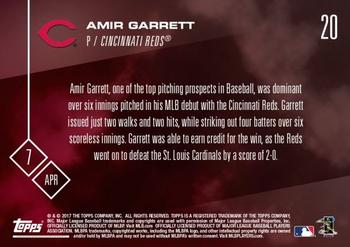 2017 Topps Now #20 Amir Garrett Back