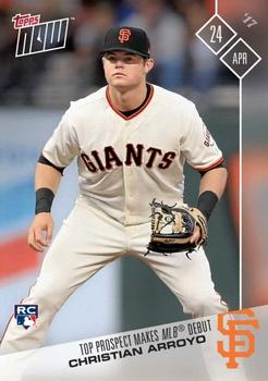 2017 Topps Now #80 Christian Arroyo Front