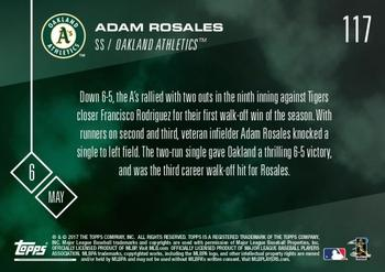2017 Topps Now #117 Adam Rosales Back