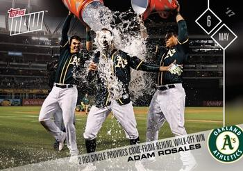 2017 Topps Now #117 Adam Rosales Front