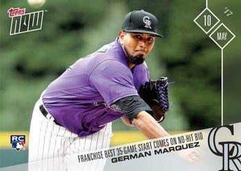 2017 Topps Now #132 German Marquez Front