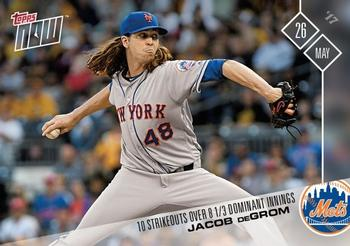 2017 Topps Now #186 Jacob deGrom Front