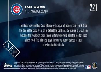 2017 Topps Now #221 Ian Happ Back