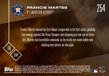 2017 Topps Now #254 Francis Martes Back