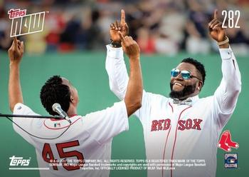 2017 Topps Now #282 David Ortiz / Pedro Martinez Back