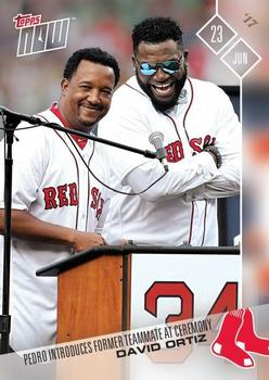 2017 Topps Now #282 David Ortiz / Pedro Martinez Front