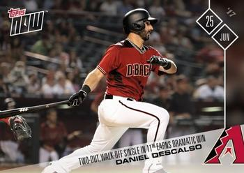 2017 Topps Now #292 Daniel Descalso Front
