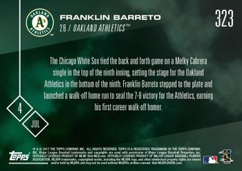2017 Topps Now #323 Franklin Barreto Back