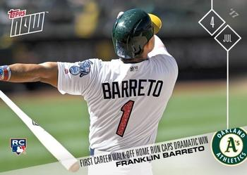 2017 Topps Now #323 Franklin Barreto Front