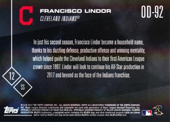 2017 Topps Now Road to Opening Day Cleveland Indians #OD-92 Francisco Lindor Back