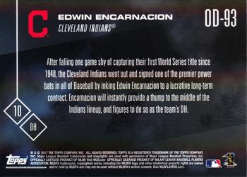 2017 Topps Now Road to Opening Day - Cleveland Indians #OD-93 Edwin Encarnacion Back