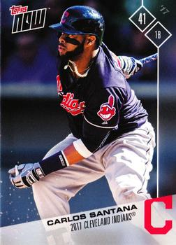 2017 Topps Now Road to Opening Day Cleveland Indians #OD-95 Carlos Santana Front