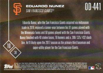 2017 Topps Now Road to Opening Day San Francisco Giants #OD-441 Eduardo Nunez Back