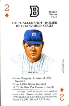 1991 U.S. Games Systems Baseball Legends #2D Babe Ruth Front