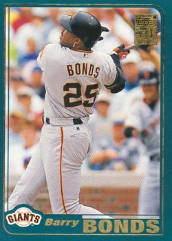 2001 Topps #497 Barry Bonds Front