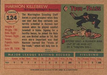 2001 Topps Archives #24 Harmon Killebrew Back
