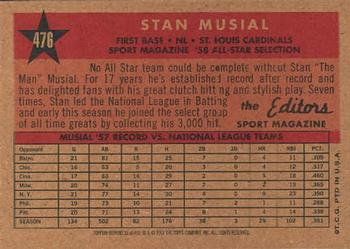 2001 Topps Archives #31 Stan Musial Back