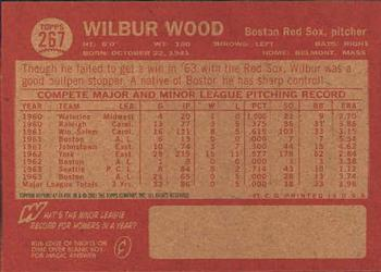 2001 Topps Archives #47 Wilbur Wood Back
