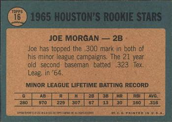 2001 Topps Archives #51 Joe Morgan Back