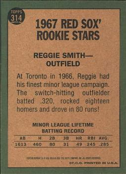 2001 Topps Archives #56 Reggie Smith Back