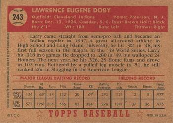 2001 Topps Archives #5 Larry Doby Back