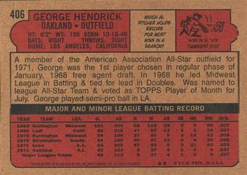2001 Topps Archives #68 George Hendrick Back