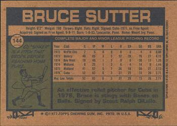 2001 Topps Archives #79 Bruce Sutter Back