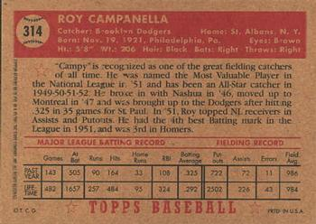 2001 Topps Archives #88 Roy Campanella Back