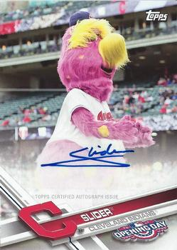 2017 Topps Opening Day - Mascot Autographs #MA-S Slider Front