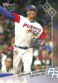 2017 Topps Now World Baseball Classic Team Puerto Rico #PR-1 Carlos Correa Front