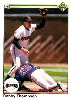 1990 Upper Deck #169 Robby Thompson Front