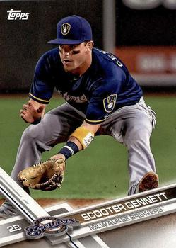 2017 Topps Milwaukee Brewers #MIL-9 Scooter Gennett Front