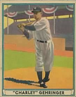 1941 Play Ball #19 Charlie Gehringer Front