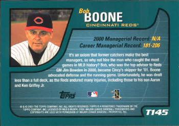2001 Topps Traded & Rookies #T145 Bob Boone Back